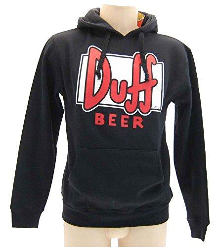 Felpa Simpson Duff Nera - Felpa originale Simpson, L (adulti)