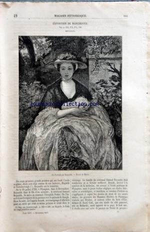 MAGASIN PITTORESQUE du 01/12/1857 - EXPOSITION DE MANCHESTER - PORTRAIT PAR REYNOLDS - DESSIN DE MORIN SALON DE 1857 PEINTURE - MACHINE A BATTRE EN BOURGOGNE PAR ADOLPHE LELEUX - DESSIN DE MARC