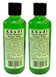 Khadi Khazana Herbal Henna and Tulsi Shampoo-420 ml (Set of 2)