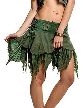 Steampunk falda, minifalda, Gekko falda gitana, Pixie–Falda, Falda de Hada