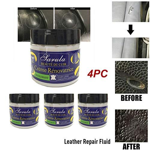Preisvergleich Produktbild 99native 4 Stück Creme Reparieren,  Lederpflege,  Leder Kleidung Schuhe Kratzer und Risse Leder Reparatur Schuhcreme Leder Reparatur Creme (Blau)