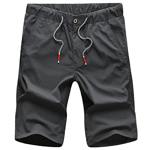 SK Studio - Pantalón corto - Básico - para hombre gris oscuro 48