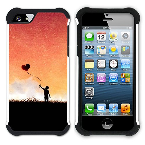 Graphic4You Liebe Herz Hart + Weiche Kratzfeste Hülle Case Schale Tasche Schutzhülle für Apple iPhone SE / 5 / 5S Design #3