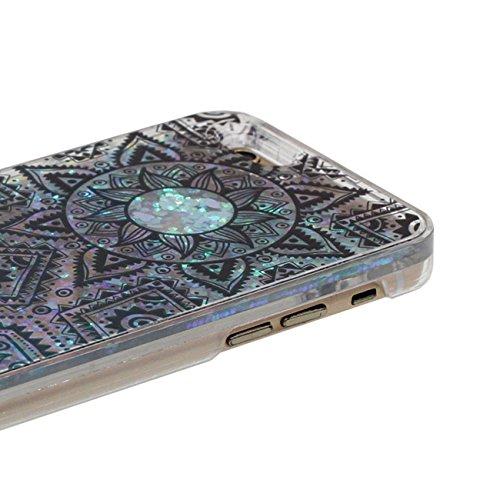 Coque Dur Flowable Transparent Liquide / Coeurs Conception Beau Religion Nation Style Motif Clair Housse de protection Case pour Apple iPhone 6 Plus / 6S Plus 5.5 inch avec 1 stylet color-b