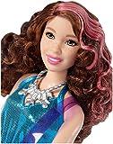 Barbie Métiers poupée pop star, musicienne brune avec robe bleue et guitare électrique rose, jouet pour enfant, DVF52