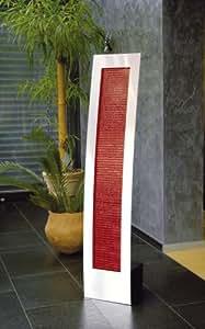 Seliger fontaine ® aquaduct lamelles fontaine de luxe, couleur :  rouge