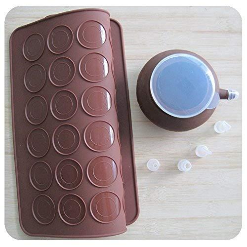 SOEKAVIA 48-capacity Juego molde para hornear Macarons