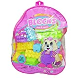 Shanaya Toys Building Blocks With Stickers (90 Pieces)- Multi-colour