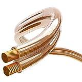 Maclean MCTV-621 Câble haut-parleur transparent PRIX POUR 5m!!!!! 2x4 mm 14 AWG cuivre sans oxygène Audio câble haut-parleur OFC en cuivre