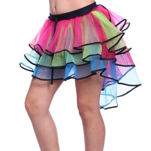 Anladia Pfau Rock Lila Peacock Tutu Tütü Tüllrock Clubwear Karneval Damenkostüm