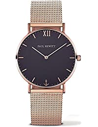 Paul Hewitt PH-SA-R-Sm-B-4M - Reloj con correa de acero inoxidable para hombre, color azul / dorado