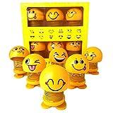YIJIAOYUN Emoji Mignon secouant la tête des poupées, Smiley drôle Visage Ressorts Dansant Jouets pour Voiture Ornements de Tableau de Bord, Party Favors, Cadeaux, décorations pour la Maison (6 Pcs)...