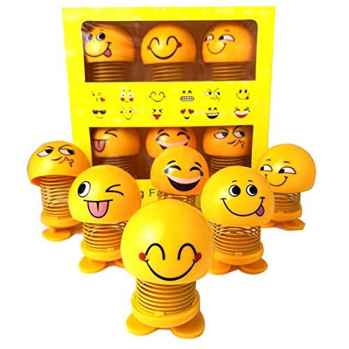 i Kopfschüttelnde Puppen, lustige Smiley Federn Tanzen Spielzeug für Auto Armaturenbrett Ornamente, Party Favors, Geschenke, Hauptdekorationen (6 Stücke) ()