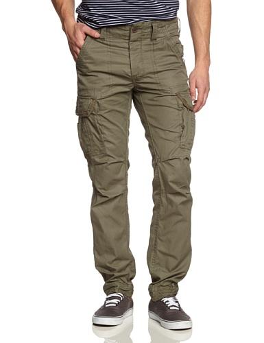 Surplus Herren Slim Hose Premium Trousers Grün (Oliv gewaschen 61)