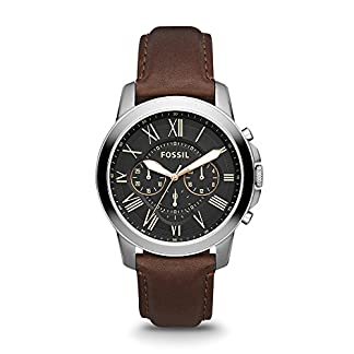 Fossil Grant Chronograph Black Dial Men's Watch – FS4813