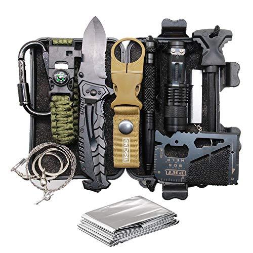 TRSCIND Survival Kit 11-in-1 mit Paracord-Armband Mehrzweck-EDC-Notfallausrüstung im Freien und Gebrauchsgepäck, offizielles Überlebenskit
