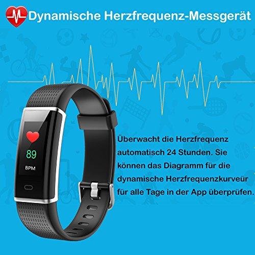 YAMAY Fitness Armband,Wasserdicht IP68 Fitness Tracker mit Pulsmesser 0,96 Zoll Farbbildschirm Aktivitätstracker Fitness Uhr Smartwatch,Pulsuhren,Schrittzähler Uhr,Smart Watch für Damen Herren - 4