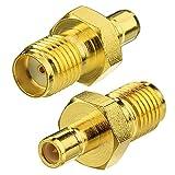 Toiot DAB Antenne Adapter SMA Buchse an SMB Buchse Stecker 2 Stücke für DAB+ Autoradio Pionner Kenwood Jvc Antenna Kabel