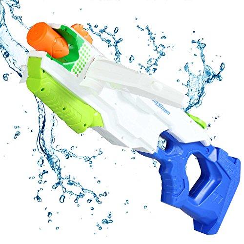 Aolvo Super Wasser Pistole Wasser Blaster Squirt Guns für Kinder Erwachsene Große Wasser Guns 2500cc Kampf Sommer Spielzeug Outdoor für Fun Drei Düse Verformung