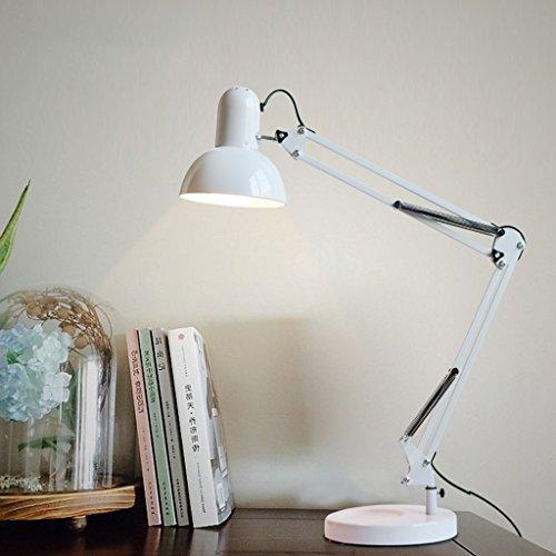 Fu Man Li Trading Company Reative Mode Schlafzimmer Nachttisch Tischlampe moderne einfache Studie Schreibtisch Schreibtisch Ophthalmologie Lernen Lampen A+ ( Farbe : Weiß )