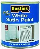Rustins-Vernice Ad Asciugatura Veloce, Satinata, Colore: Bianco Acqua, 250 Ml/500 Ml/1 L, Whisw250