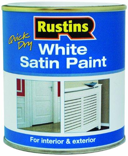 Rustins-Vernice Ad Asciugatura Veloce, Satinata, Colore: Bianco