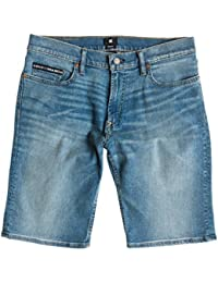 DC Shoes Worker Straight Denim Shorts Indigo bleach - Short coupe droite pour homme