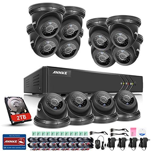 ANNKE-1080P-lite-16CH-DVR-y-12-Cmaras-con-2TB-Disco-Duro-de-vigilancia-Visin-Nocturna-y-Deteccin-de-Movimientos-IP66-Interior-y-Exterior