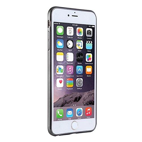Phone case & Hülle Für iPhone 6 / 6s, Galvanisieren TPU Schutzhülle ( Color : Silver ) Black