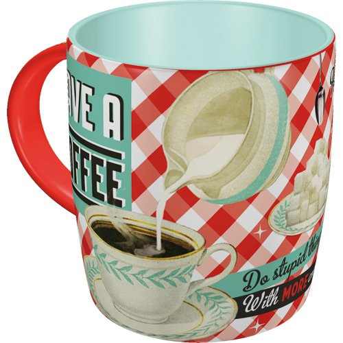 Nostalgic-Art 43004 Say it 50's - Have A Coffee | Retro Tasse mit Sprüchen | Kaffee-Becher |...