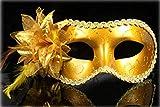 Masque D'Or De Venise Femme De Carnaval Avec Le Tissu Et Les DéCorations - Dfr