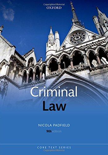 Criminal Law (Core Texts Series)