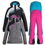 Skianzug Frauen Damenskianzug (grau/pink, 40)
