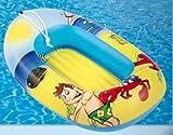 PEKL - aufblasbares Kinderboot - Boot Beach Ghost - ca. 95 x 60 cm