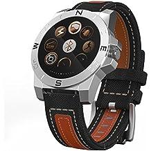 Actividad Tracker reloj, anti-lost, grabación, Reproducción de Vídeo, monitor de sueño reloj para Android IOS Smartphones (marrón)