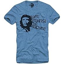 E1Syndicate T-Shirt Rage Against The Machine Che RATM Republic S/M/L/XL Blue