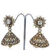 Tono de oro boda Wear Jhumka/pendiente para el pendiente para el indio tradicional de joyería pantalones de deporte para mujer