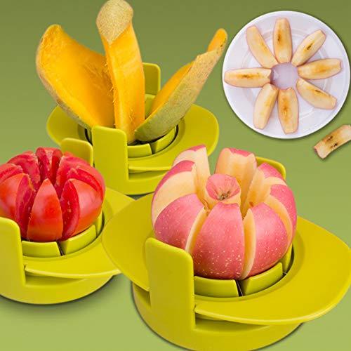 Hemore Haushalt Multifunktions Obst Slicer Form Set 1 Set (Apfel schneiden + Tomaten schneiden + Mango schneiden + Basis) Halloween, Weihnachten, Thanksgiving Geschenke und Dekorationen