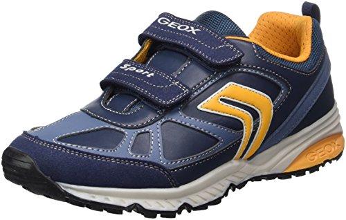 Geox Bernie C, Zapatillas Para Niños, Azul (Navy/Yellow), 36 EU