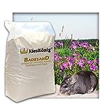 Premium Badesand für Chinchillasand, Hamster, Rennmäuse und Degus - samtweiche abgerundete Körnung 22 kg