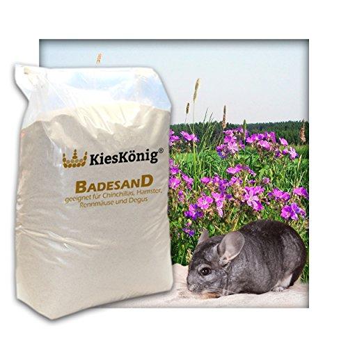 Premium Badesand für Chinchillasand, Hamster, Rennmäuse und Degus - samtweiche abgerundete Körnung 22 kg (Rennmaus-haus)