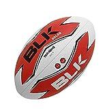 BLK - SOLAR - Ballon de Rugby - Spécial Training - Cousu main - blanc/bleu/noir