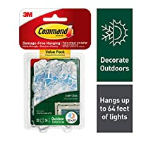 Command Outdoor Light Clips Value Pack, Clear, 32-Clips (17017CLRAWVPES) by Command