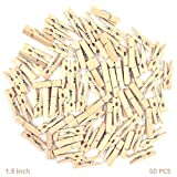 #10: AsianHobbyCrafts Natural Wooden Photo/Paper Clips : Pack of 50 Clips