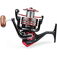 Carrete de pesca Ticar, de metal, con brazo plegable, con 11 rodamientos 5.2:1(7000)