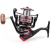 Starke Korrosion Metall Spule Spinning Fishing Reel, ticar klappbare Arm Shamballa Bearing 5,2: 1, schwarz, 7000
