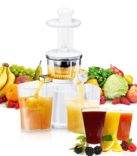 Exido Slow Juicer Entsafter 220 Watt - Einfach Frischer Saft (Orange Bio-obst-saft)