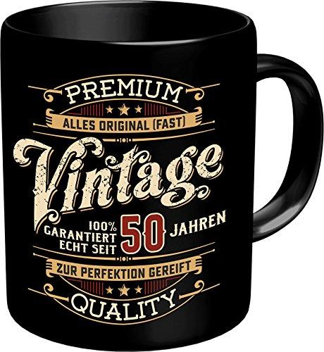 Original RAHMENLOS® Kaffeebecher zum 50. Geburtstag: Vintage 50 - Im Geschenkkarton 2633