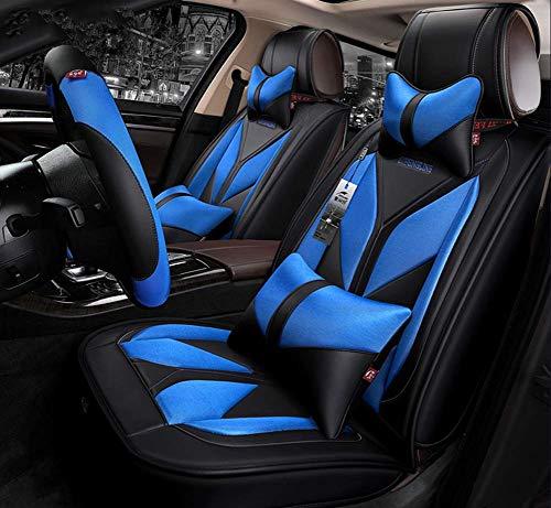 Der neue universelle Four Seasons-Airbag mit vollständig geschlossenem Sitzbezug ist mit fünf Autositzkissen aus Leder und Polyester kompatibel,Blue
