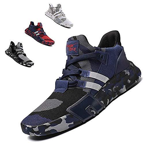 ZTM Scarpe da Corsa alla Moda Leggere Scarpe Sportive da Uomo Scarpe Sportive Traspiranti Scarpe da Passeggio,Black,12